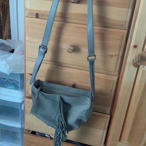 Lucky Brand gray leather purse